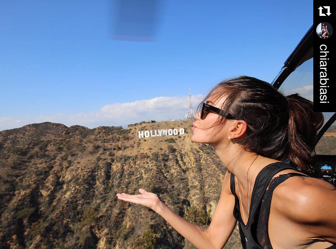 I love Hollywood. Los Angeles Helicopter Tours. Photo: @chiarabiasi