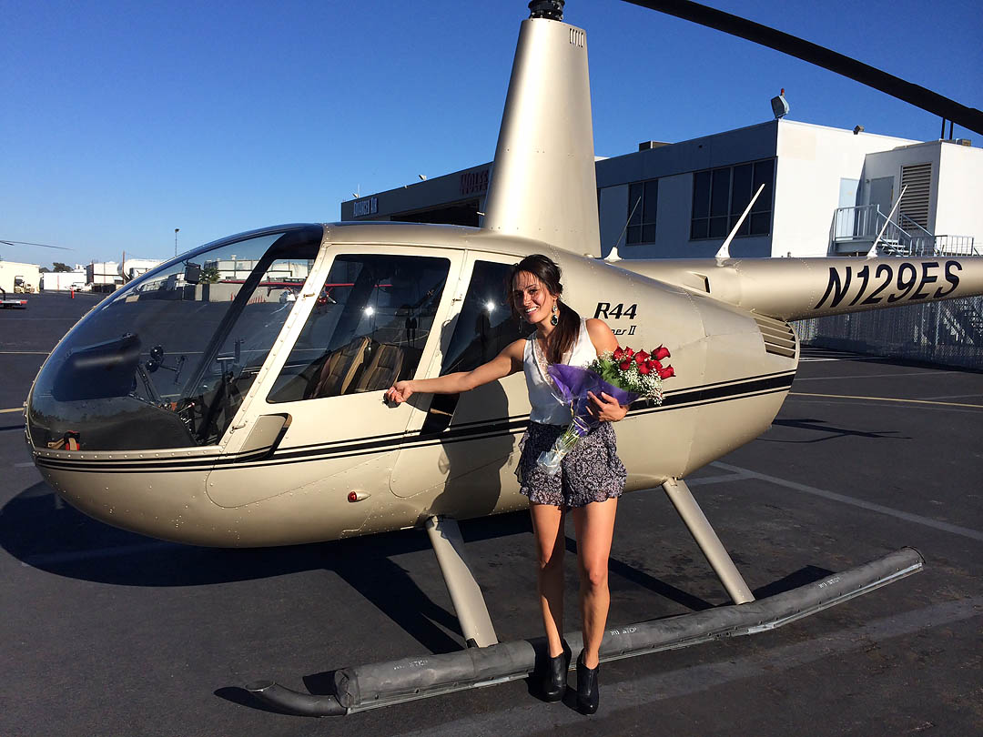 Love is in the air. Los Angeles Helicopter Tours.