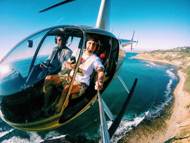 The perfect selfie. Los Angeles Helicopter Tours.
