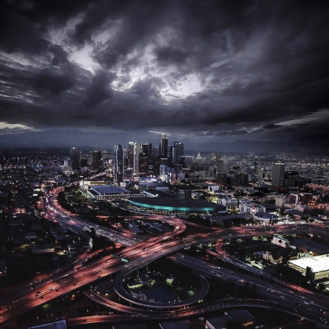 Stormy skys. Los Angeles Helicopter Tours.