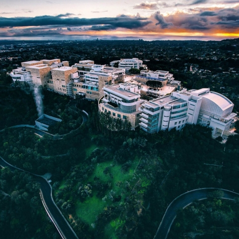 The Getty Center. Los Angeles Helicopter Tours.