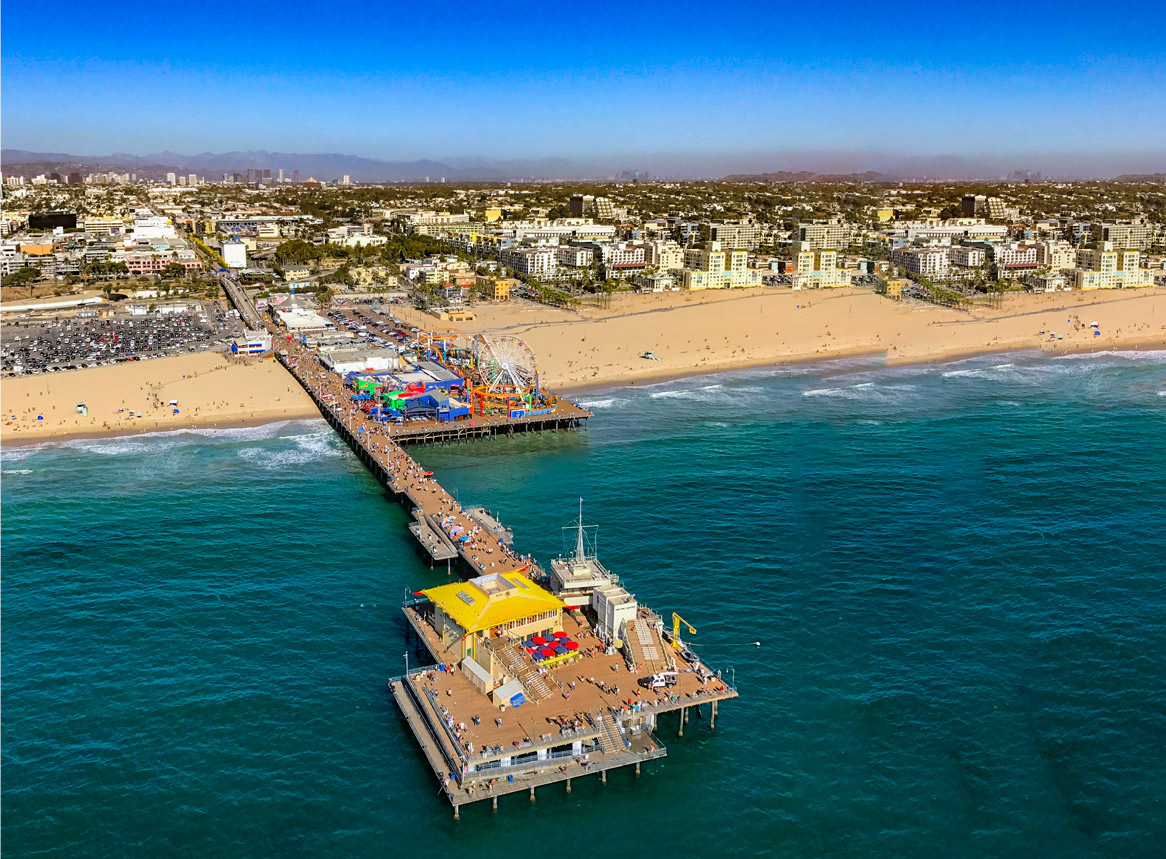 The beach cities tour. Los Angeles helicopter tours.
