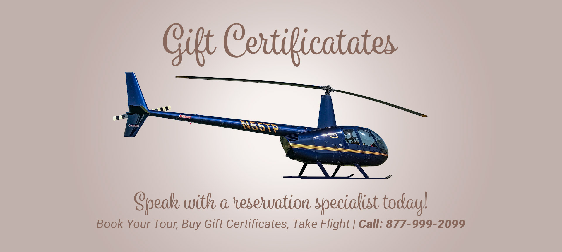 Gift Certificates. Los Angeles helicopter tours.